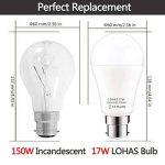 150W Ampoule Halogène Équivalent, LOHAS 17W B22 A60 Ampoule LED, 1600LM, Blanc Chaud 2700K, 220-240V AC, 180°Larges Faisceaux, Ampoule Led Baionnette, lot de 4 de la marque Lohas-Led image 1 produit