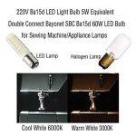 1819®2-packs BA15D Ampoule LED 3W/5W Ampoule Lampe Blanc Chaud 3000K Blanc Froid 6000K Super Lumineux LED Bulb Double brancher ampoule de baïonnette SBC AC 220V-240V (5W, Blanc Froid) de la marque 1819 image 3 produit