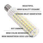 1819 Dernière Modèle E14 LED Ampoules Non Dimmable Haute Luminosité 8.5W équivalent à 100W Ampoule Halogène, 90–265V Blanc Froid 6000K de la marque 1819 image 3 produit