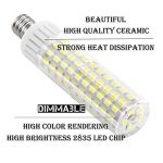 1819® E12 LED Bulb 2.5 Watt Warm White 3000K 25W Equivalent 250 Lumen Candelabra Base 4XCOB Non-Dimmable AC220V-240V for Chandelier/Ceiling Fan(Pack of 2) (2.5W, Blanc Chaud 3000K) de la marque 1819 image 3 produit