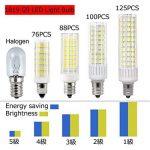 1819® E12 LED Bulb 2.5 Watt Warm White 3000K 25W Equivalent 250 Lumen Candelabra Base 4XCOB Non-Dimmable AC220V-240V for Chandelier/Ceiling Fan(Pack of 2) (2.5W, Blanc Chaud 3000K) de la marque 1819 image 4 produit