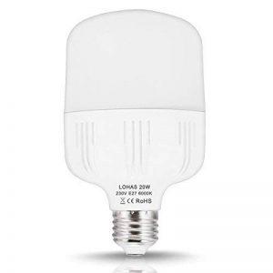 1X LOHAS 20W E27 180W Ampoule Halogène Équivalent, Blanc Froid 6000K, Ampoule LED, 220-240V AC, 2200LM, 240°Larges Faisceaux, LED Lampe E27 de la marque Lohas-Led image 0 produit
