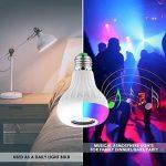 2 EN 1 Ampoule Couleurs LED Bluetooth Musique E27 Mini Hauts-parleurs RGB Couleur 12W Lampe Couleur Intelligente Disco Lumières Colorées Sans fils Lecture de musique avec Télécommande Ampoules Spéciales de la marque JOLVVN image 3 produit