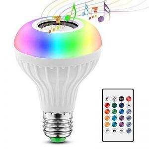 2 EN 1 Ampoule Couleurs LED Bluetooth Musique E27 Mini Hauts-parleurs RGB Couleur 12W Lampe Couleur Intelligente Disco Lumières Colorées Sans fils Lecture de musique avec Télécommande Ampoules Spéciales de la marque JOLVVN image 0 produit