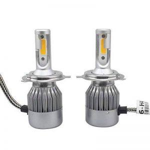 2 pcs de voiture LED Phare, Gogo Roadless 60 W 3800LM H4 6000 K LED Ampoule de phare Kits, cob Chips/Durée du pilote Interne, 50000 heures H4 ampoules de phare de la marque GOGO image 0 produit