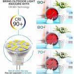 2W LED MR11, 12V 20W ampoules halogènes de remplacement, GU4Bi-pin Base, Blanc lumière du jour 4000K, (lot de 4) de la marque Sansun image 3 produit