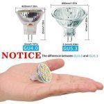 2W LED MR11, 12V 20W ampoules halogènes de remplacement, GU4Bi-pin Base, Blanc lumière du jour 4000K, (lot de 4) de la marque Sansun image 4 produit