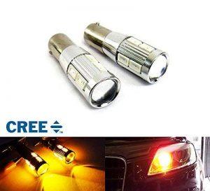 2x Ambre 435/H21W/Bay9s ampoule LED Cree tourner Indicateur de signal lumière du jour DRL Feu de position CANBUS de la marque RZG image 0 produit