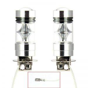 2 x H3 100W LED Ampoule de Antibrouillard LED Lampe de Course Diurne 10000K Voiture DC 12V Auto Lampe Bleu de la marque AUTLY image 0 produit