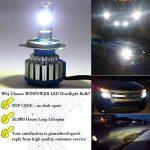 2 x H4 LED Éclairage Avant Ampoule conversion Kit tout-en-un Blanc 80 W 6000K de la marque Winpower image 4 produit