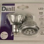 20 ampoules LED GU10 (10 blisters de 2) 345 Lumen/3000K/6,2W = 50W Diall de la marque Diall image 2 produit