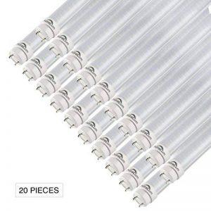 20×Auralum Tubes LED T8 G13 150CM 24W Tubes Fluorescents LED 2835*144LED Tubes Néon de Couverture Transparente avec Starters Blanc Naturel 4000-4500K Éclairage Intérieur Économique d'énergie Longue Durée de Vie de la marque AuraLum image 0 produit