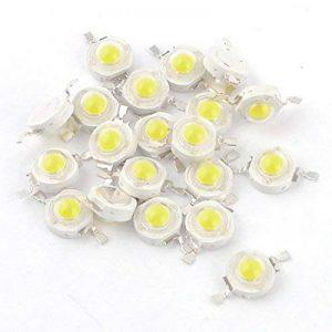 20 Pcs Haute puissance 2 Pin 3W Blanc LED Perles Émetteurs 170-190Lm 6000K de la marque Sourcingmap image 0 produit