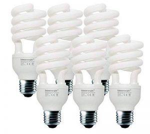 20W (= 110W) économie d'énergie ampoule spirale CFL Blanc 6500K jour triste couleur E27Ampoule Lampe CULOT à vis Edison, Stick, 10ans, 10000heures Fluo Compact avec Tailles par Lowenergie, e27 20.0 wattsW de la marque Lowenergie image 0 produit