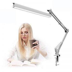 [2018 nouvelle version] xuehaostore A16 lampe de bureau LED, lampe d'architecte de bras oscillant, pince de lampe de table de dessin, peut être puissance par USB, oeil-soin, gradateur de niveau 3, blanc de la marque xuehaostore image 0 produit