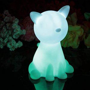 20cm Lampe de Chevet Enfant LED à Pile - Lumière Chambre de Nuit Multicolore RGB - Veilleuse Chat Lumineux de PK Green de la marque PK Green image 0 produit