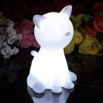 20cm Lampe de Chevet Enfant LED à Pile - Lumière Chambre de Nuit Multicolore RGB - Veilleuse Chat Lumineux de PK Green de la marque PK Green image 3 produit