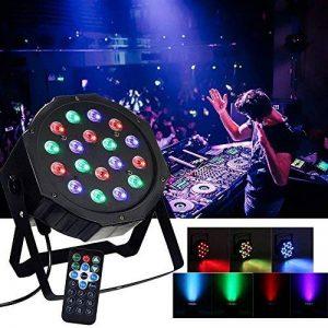 20W Par LED DMX 512 RGB 18x3W Lumière de Scène 18 LED Commande Sonore/Musique Jeux de Lumière Disco par Party lumière pour Disco, salle de bal, Soirée, Bar, Scène, Club, Noël de la marque ALICE DREAMS image 0 produit
