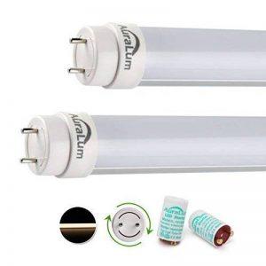 20x Tube LED Auralum® 150CM Néon Orientable T8 24W Tube Fluorescent Culot G13 SMD Lumière Blanc Neutre 4000~4500K - Équivalence Incandescence 58W Vient avec Starter LED de la marque AuraLum image 0 produit