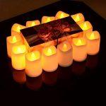 24 lumières de bougie, Lunsy lumières de thé sans flammes blanches et chaudes de LED, lumières de bougie alimentées par cellules de bouton pour le mariage de partie de décor de la marque Lunsy image 3 produit