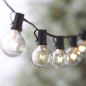 25ft G40 Raccordable avec Lampes Cordes, 25 Boule ampoules Blanc Chaud with 2 Ampoules de rechange, Décoration intérieur et extérieur pour Patio, Café, Jardin, Décoration de Parti de la marque Evangel image 0 produit