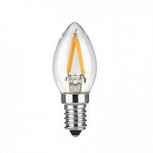2W E12 Ampoules à Filament LED 2 diodes électroluminescentes COB Blanc Chaud 1600lm 2700K AC 110-130V de la marque Ampoules LED image 0 produit