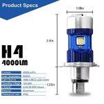 2X H4 / HB2 / 9003 a mené le kit d'ampoule de phares - puissance de puissance - phare de voiture de H4 LED salut / moto de faisceau de Lo, blanc superbe 6000K 8000Lm de xénon DC 12V / DC 24V de la marque Winpower image 1 produit
