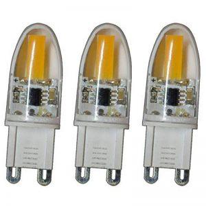 3 mini ampoules basse consommation à LED COB G9 à intensité variable blanc chaud en silicone 360° 2 W A++ de la marque PB-Versand image 0 produit