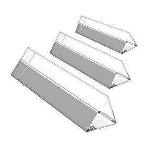 3 Prismes en Cristal - Verre Optique Cristal - Prisme Triangulaire Longueur 15, 10 et 6cm avec Coffret Cadeau - Enseigner la Physique des Spectres de Lumière Prisme en Verre pour la Photographie de la marque BELLE VOUS image 0 produit