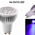 3W Bleu Ampoule LED GU10Lumière Downlight Spot 220V Lot de 10Multi Lot de la marque LedMasters image 2 produit