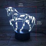 3D Lampe Illusion Optique LED Veilleuse, EASEHOME Optiques Illusions Lampe de Nuit 7 Couleurs Tactile Lampe de Chevet Chambre Table Art Déco Enfant Lumière de Nuit avec Câble USB, Cheval de la marque EASEHOME image 3 produit
