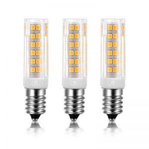 3X E14 7W Ampoule LED,450LM ( Equivalent 40W Ampoules halogènes/ Incandescente ) Blanc Chaud 3000K, 360° angle de faisceau,AC 220-240V de la marque yohooo image 0 produit