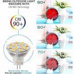 4 Ampoules LED MR11 GU4.0, 2W (équivalent ampoules halogènes 20 W), GU4 Base, 200lm, 12V AC/DC, 120° Flood faisceau ampoules LED, 3000 K( Blanc Chaud) de la marque SANSUN image 3 produit