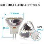 4 Ampoules LED MR11 GU4.0, 2W (équivalent ampoules halogènes 20 W), GU4 Base, 200lm, 12V AC/DC, 120° Flood faisceau ampoules LED, 3000 K( Blanc Chaud) de la marque SANSUN image 1 produit