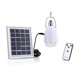 4 en 1 LED Lampe solaire, SUAVER à énergie solaire 12 ampoules Super lumineuses avec télécommande control-solar Grange/Camping/lumière d'urgence pour camping randonnée de la marque SUAVER image 0 produit