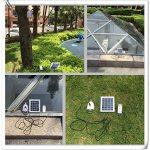 4 en 1 LED Lampe solaire, SUAVER à énergie solaire 12 ampoules Super lumineuses avec télécommande control-solar Grange/Camping/lumière d'urgence pour camping randonnée de la marque SUAVER image 4 produit