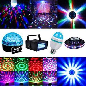 4 jeux de lumière Effet OVNI + Stroboscope + Ampoule E27 RVB + Dôme ASTRO de la marque Lytor image 0 produit