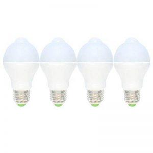 4 Pack E27 Ampoule Detecteur de Mouvement 7W Lampe Mouvement 14 SMD 5730LEDs Blanc Chaud 3000K Faible Consommation 560LM PIR LED AC220V-240V de la marque Tatalantai image 0 produit