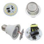 4 pièces, ZHENMING E27 LED 12V - 24V Ampoule, 9W 940 Lumen Super Lumineux 5730 LED SMD, 85W Ampoule halogène équivalent,180 ° d'angle de faisceau (Blanc Chaud 2700K) de la marque ZHENMING image 3 produit