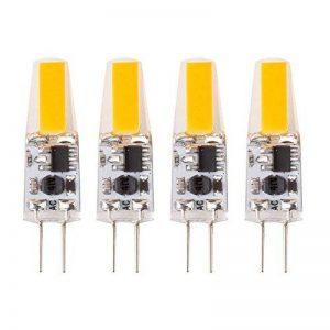 4 x 2 W G4 lampe LED COB Dimmable Blanc chaud (3000 Kelvin), 170 lumens, AC/DC 12 V [Classe énergétique A + +] de la marque TENLION image 0 produit