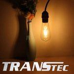 4X LED Ampoule à filament ST64, Verre, blanc chaud, 8W de la marque Asgens image 2 produit