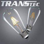 4X LED Ampoule à filament ST64, Verre, blanc chaud, 8W de la marque Asgens image 3 produit