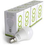 4X Lot–2broches Culot à baïonnette B2212W Ampoule LED à économie d'énergie, équivalent 80W, Blanc chaud (3000K), EX538+ Durée de vie. de la marque Eco Power Shop image 2 produit