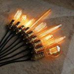 4X vintage industriel ampoules à filament Cage d'écureuil de style antique E27–60W-t130britannique d'éclairage de la marque LEDSone image 4 produit