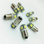 4pcs 1156 BA9S 6vdc 5050 SMD 5 LED Car Dashboard Ampoules 1895 T4W 1445 6253 Couleur: blanc frais 6500k (paquet de 4) de la marque STAR image 4 produit