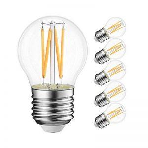 4W Ampoule LED Filament E27 G45, Equivalent à Ampoule Incandescence 40W, 470Lm 2700K Blanc Chaud, Ampoule Edison Vintage, Non Dimmable, Lot de 6, LVWIT de la marque LVWIT image 0 produit