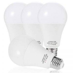 4X LOHAS 23W E27 Blanc Chaud 2700K, Ampoule LED, 200W Ampoule Halogène Équivalent, 220-240V AC, 2500lm, 240°Larges Faisceaux, Ampoule E27 de la marque Lohas-Led image 0 produit