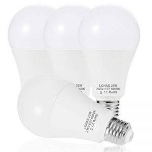 4X LOHAS 23W E27 Blanc Froid 6000K, Ampoule LED, 200W Ampoule Halogène Équivalent, 220-240V AC, 2500lm, 240°Larges Faisceaux, Ampoule E27 de la marque Lohas-Led image 0 produit