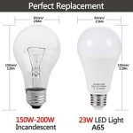 4X LOHAS 23W E27 Blanc Froid 6000K, Ampoule LED, 200W Ampoule Halogène Équivalent, 220-240V AC, 2500lm, 240°Larges Faisceaux, Ampoule E27 de la marque Lohas-Led image 1 produit