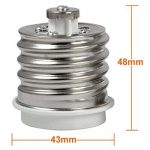 4X MENGS® qualité E40 à E27 Convertisseur LED adaptateur de lampe à haute température du matériau de résistance ABS - Rallonge / support de la marque MENGS® image 4 produit